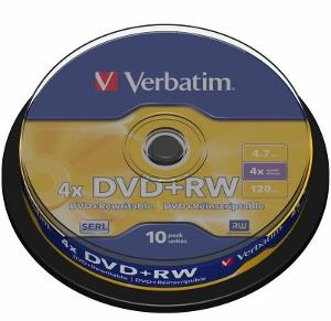 Verbatim DVD+RW [ cakebox 10 | 4.7GB | 4x ]