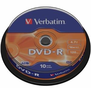 Verbatim DVD-R [ cakebox 10 | 4.7GB | 16x | matte silver ]