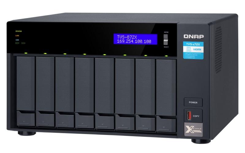 QNAP TVS-872X-i5-8G (6core 3,3GHz, 8GB RAM, 8x SATA, 2x M.2 NVMe slot, 1x HDMI 4K, 2x GbE, 1x 10GbE)