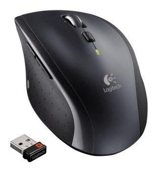 Logitech myš Wireless Mouse M705 nano, stříbrná, laserová, unifying přijímač, 5 tlačítek