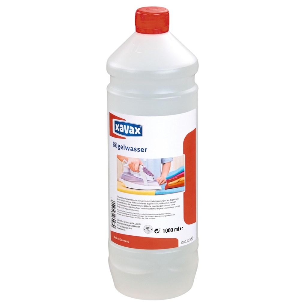 Xavax voda do napařovacích žehliček, 1 l