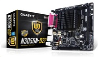 GIGABYTE MB N3050N-D2P, Dual-Core Celeron® N3050 SoC (1.6 GHz), Intel N3050, 2xDDR3, VGA, mini-ITX
