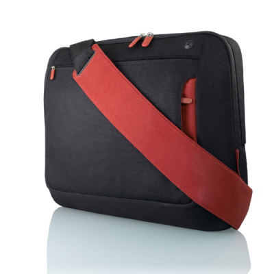 Belkin Neoprene Messenger Bag for Notebook up to 17', černá/červená