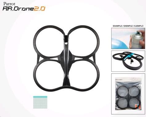 Parrot AR.Drone 2 vyměnitelný vnitřní kryt (černý)