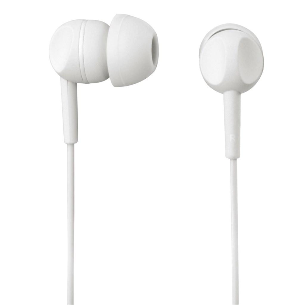 Sluchátka s mikrofonem Thomson EAR3203, silikonové špunty, bílá