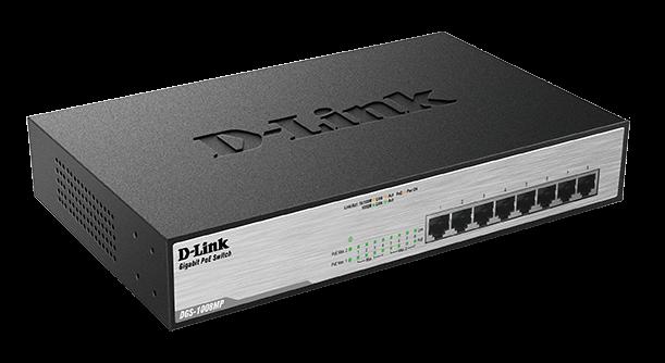 D-Link DGS-1008MP 8 Port Desktop Switch with 8 PoE Ports