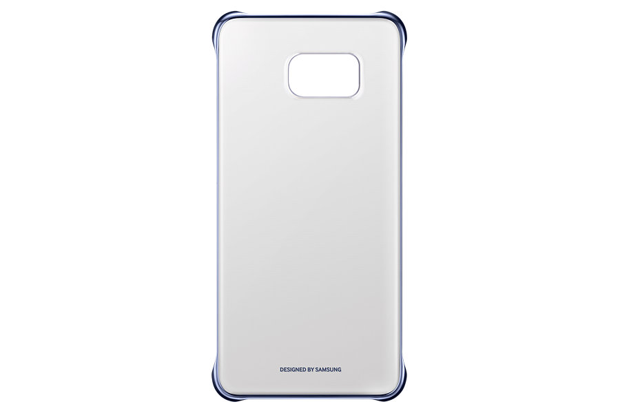 Samsung kryt Glossy Cover EF-QG928M pro Galaxy S6 edge+ (SM-G928F), modrá/černá