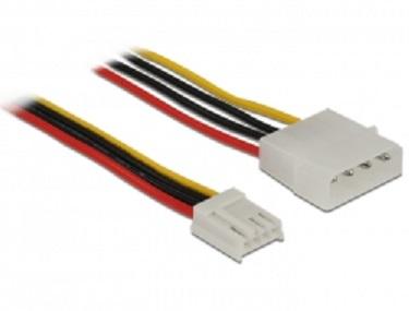 Kabel Power Molex 4 Pin Stecker > Floppy 4 Pin Buchse 40 cm Delock