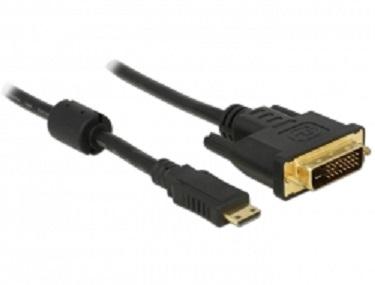 Delock HDMI kabel Mini-C samec > DVI 24+1 samec 1 m