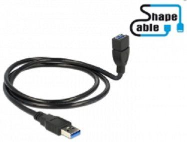 Delock kabel USB 3.0 A samec > USB 3.0 A samice ShapeCable 1 m