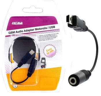 4World Audio adaptér pro Motorola USB V3/3i RAZR V3x/3xx L6 A780 E680i SLVR L7