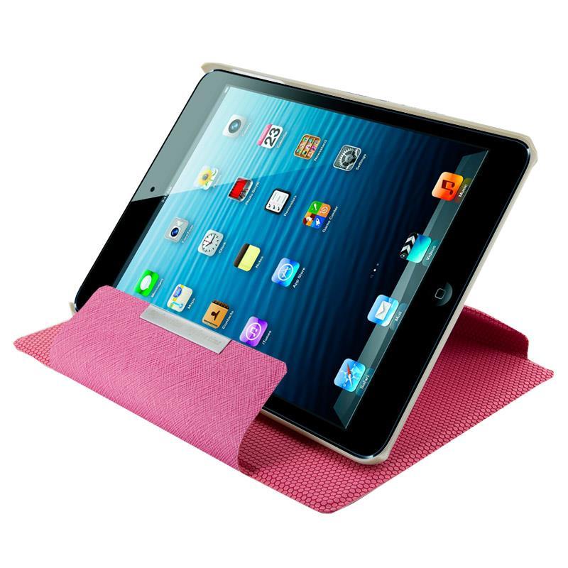 4World Pouzdro - stojan pro iPad Mini, Rotary, 7'', růžový