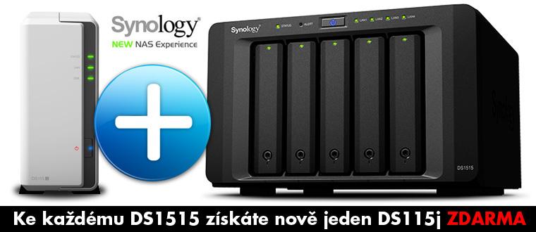 Synology DS1515 & DS115j jako dárek (bundle)