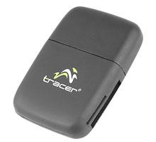 Tracer C24 čtečka karet SD/SDHC/MS/Micro SD/M2, USB, černá