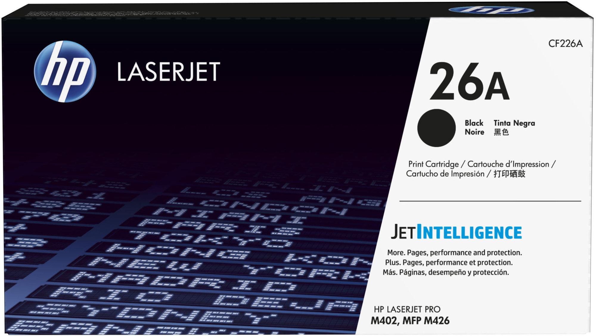 HP CF226A Toner 26A pro LJ M402 (3100str), Black