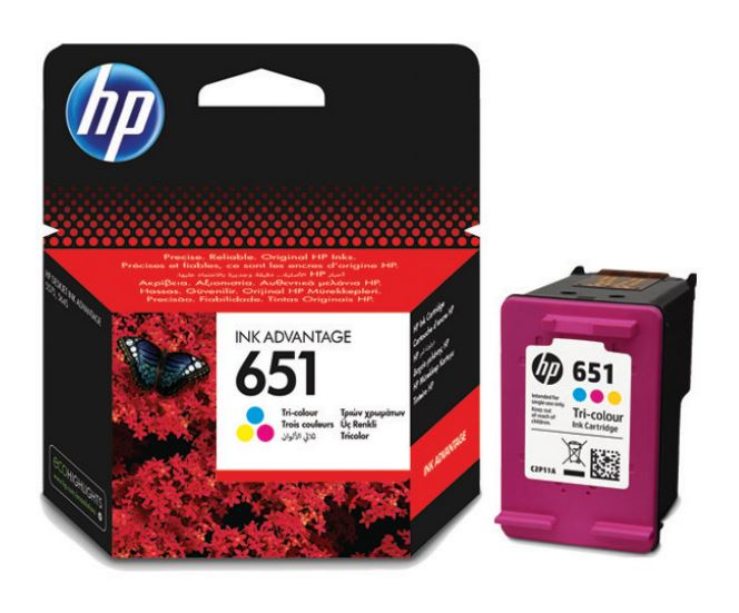 HP C2P11AE Ink Cart No. 651 pro DJ 5645, 5575, 300 stran, Tri-color