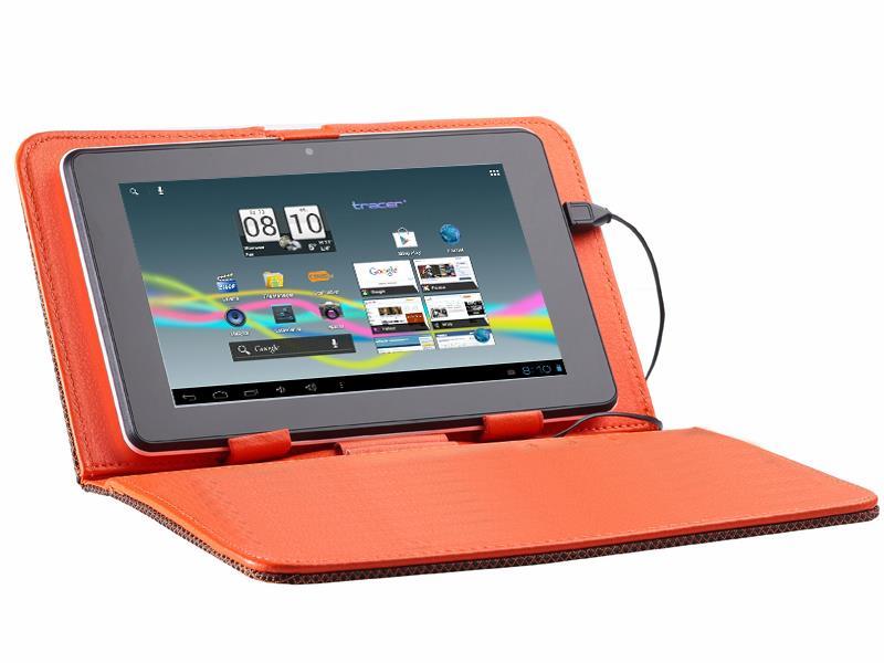 Tracer Street pouzdro pro tablet 9.7'', polyester, oranžové