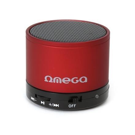 Bluetooth reproduktor 3W, FM, micro SD, červený