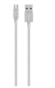 MIXIT UP Metallic MicroUSB - USB, Stříbrný