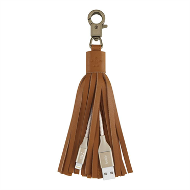 BELKIN Leather Tassel USB - Lightning, zlatý