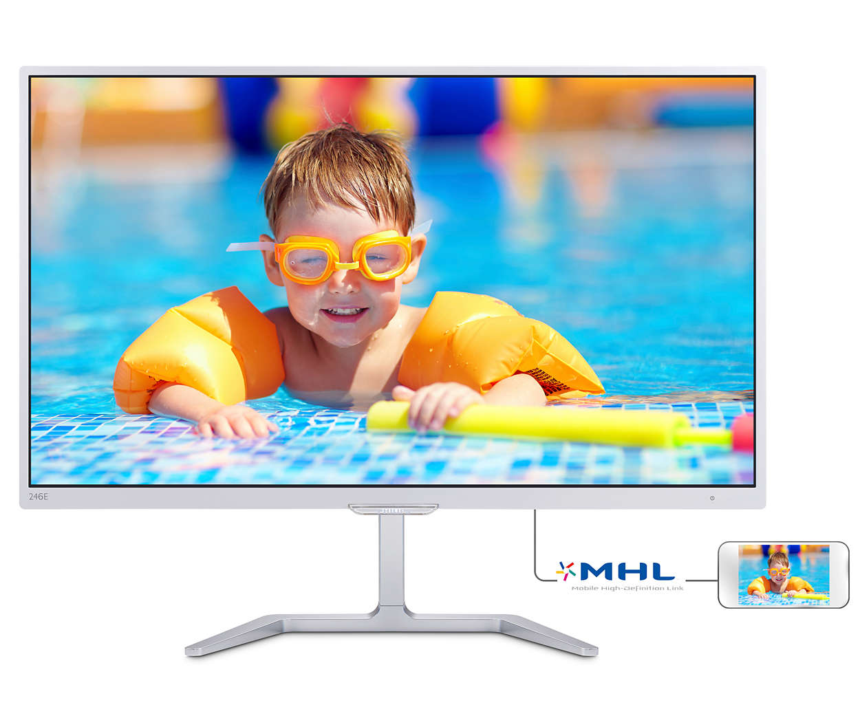 Philips LCD 246E7QDSW/00 23.6''LED, PLS, 15ms,DC20mil, VGA/DVI/HDMI, 1920x1080,b