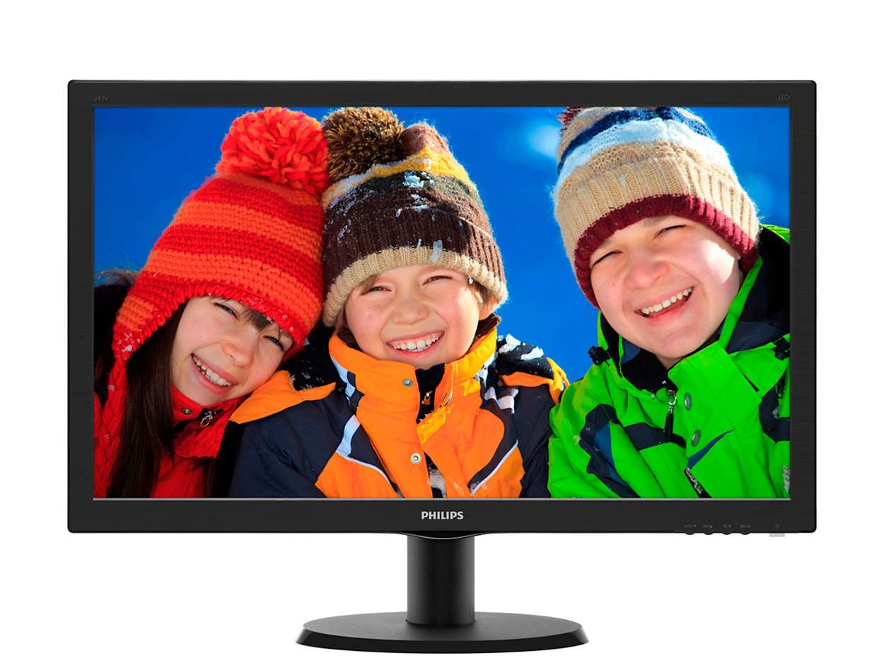 "24"" LED Philips 243V5LHSB - FHD, HDMI"