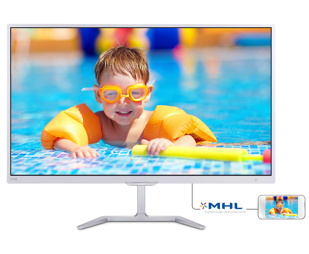 "Philips LCD 276E7QDSW/00 27"" wide PLS/1920x1080/20M:1/5ms/250 cd/VGA/DVI-D/HDMI (MHL)"