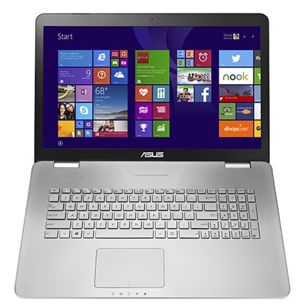 """ASUS NB N751JX - i7-4750HQ@2.0GHz, 17.3"""" matný FHD, nV GTX950M 2GB, 8GB, 1TB+128GB SSD, BluRay, WiFi, BT, W10, stříbrná"""