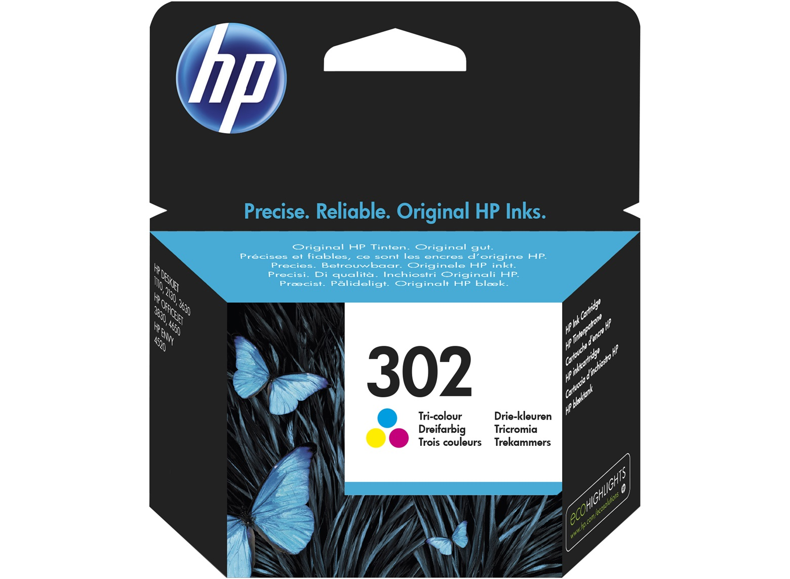 HP F6U65AE 302 Tri-color Original Ink Cartridge