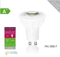 Whitenergy LED žárovka (GU10, 5W, 400 lm, bílá, úhel: 38°)
