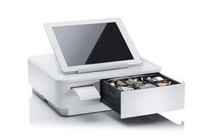 Star základna mPOP pro tablet , tiskárna 58mm, zásuvka, bílá