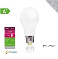 Whitenergy LED žárovka (E27, 10W, 810 lm, teplá bílá, stmívací)