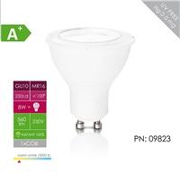 Whitenergy LED žárovka (GU10, 8W, 560 lm, bílá, úhel:100°)