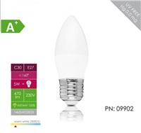 Whitenergy LED žárovka (E27, 5W, 470 lm, bílá, úhel 160°)