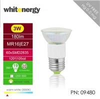 Whitenergy LED žárovka (E27, 3W, 180 lm, teplá bílá)