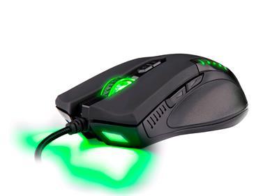 C-TECH herní myš Empusa (GM-17), zelené podsvícení, laser 3400DPI, USB