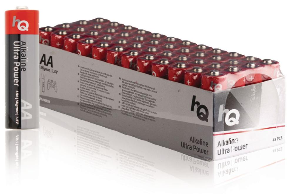 HQ AA Ultra Power, alkalická baterie AA (LR6) - 48 ks, box