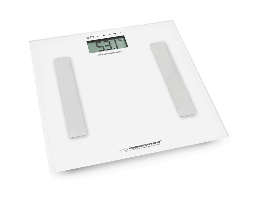 Esperanza EBS001W FITNESS osobní digitální váha, bílá
