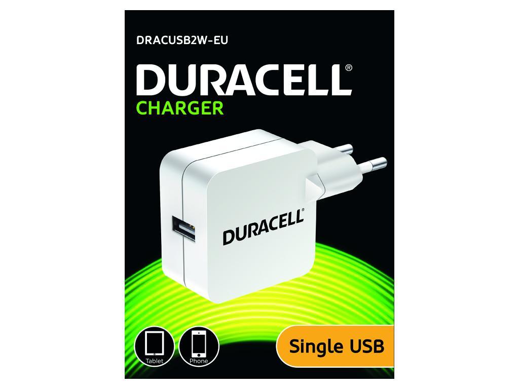 Duracell USB Nabíječka pro čtečky & telefony 2,4A bílá
