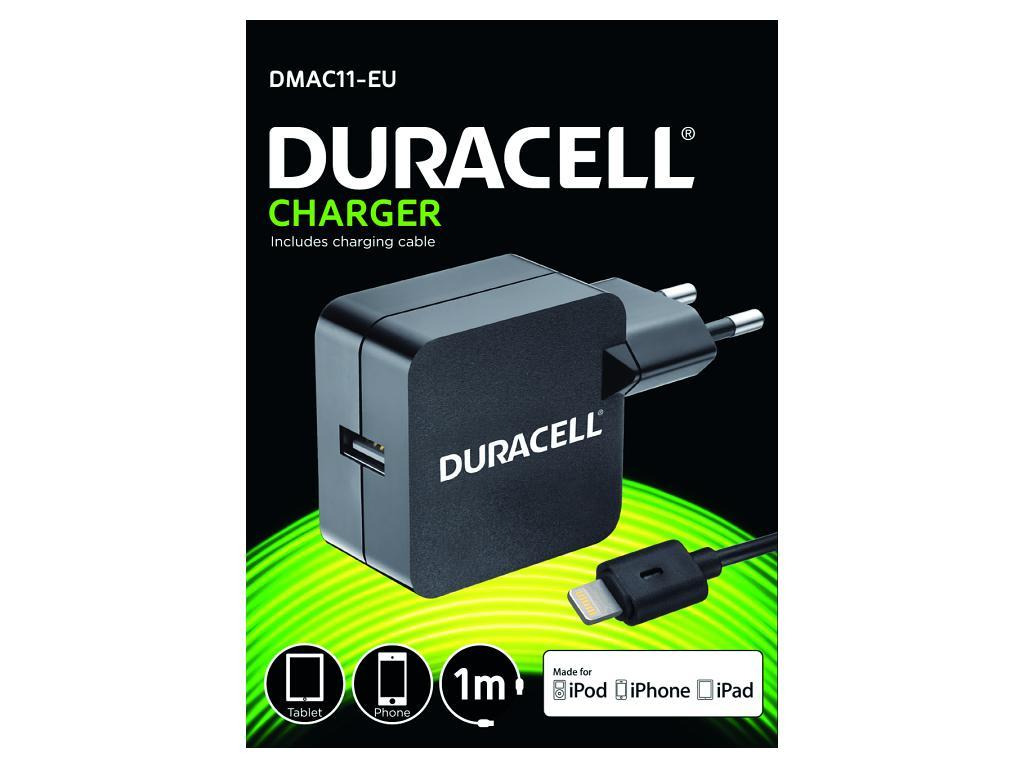 Duracell USB Nabíječka pro čtečky & telefony 2,4A včetně kabelu Lightning
