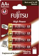 Fujitsu Alkaline High Power LR6/AA, 4 ks, Blister