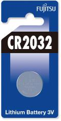 Fujitsu Lithium Battery CR2032 knoflíková baterie, 1 ks, Blister