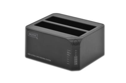 Digitus USB 3.0 SATA 6G Dual Dokovací stanice pro 2.5 / 3.5, funkce klonování SATA HDD , 12V / 3A napájení