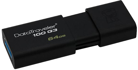 KINGSTON 128GB USB 3.0 DataTraveler 100 G3 (100MB/s read , 10MB/s write)