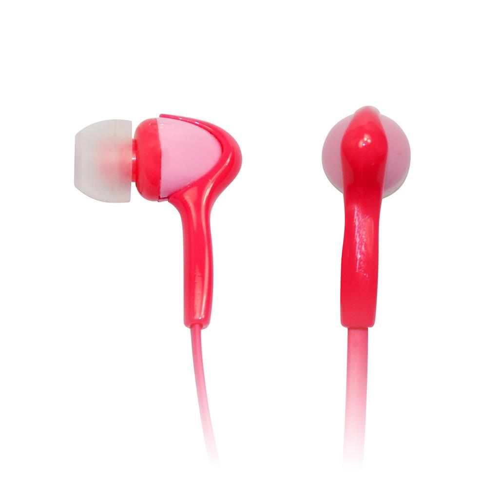 VAKOSS Stereofonní sluchátka do uší, super bass sound, růžová