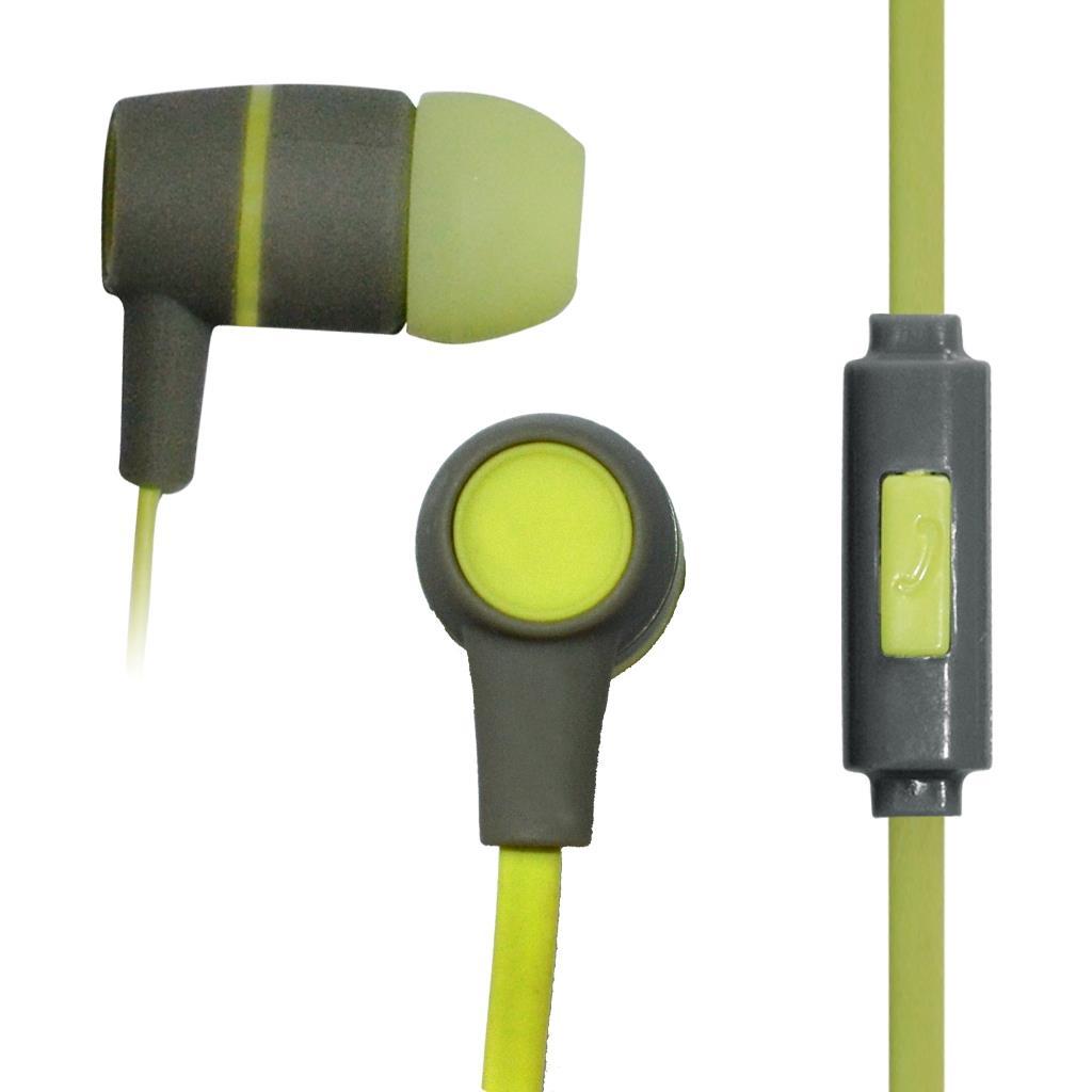 VAKOSS Stereofonní sluchátka s mikrofonem, do uší, silikonová SK-214G šedá