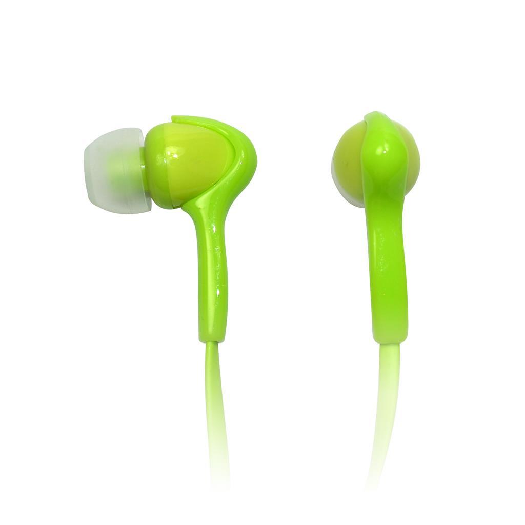 VAKOSS Stereofonní sluchátka do uší, super bass sound, zelené
