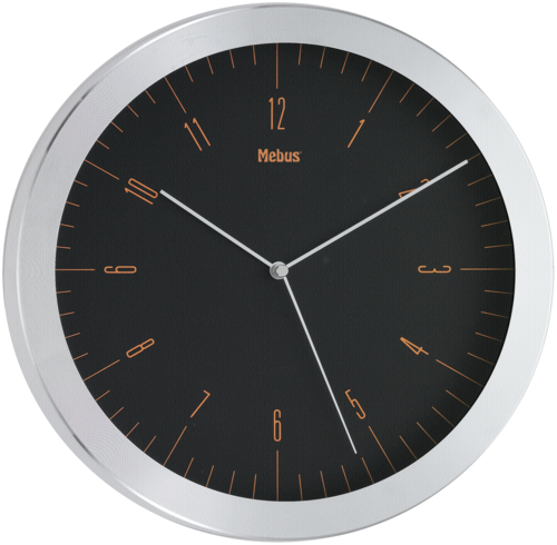 Mebus 16311 oranzova Quarz-nastenne hodiny