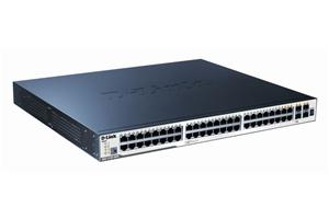 D-Link 48-port 10/100/1000 Layer2 Stackable PoE Gigabit Switch 4-port Combo SFP