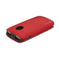OMEGA Power Bank 5000mAh 2x USB (1A + 2.1A), pogumovaná, červená